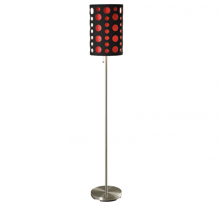 Ore International 9300F BK RD Modern Retro Floor Lamp 66 Inch 2