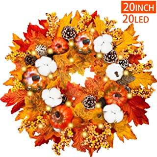 Prelit Thanksgiving Wreath