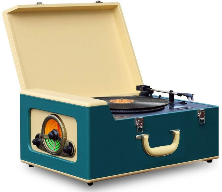 Pyle Vintage Turntable Record Player