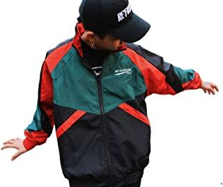 Retro Colorblocked Track Jacket Windbreaker