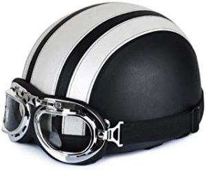 Retro Motorcycle Open Face Half Helmet