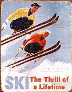 Retro Wall Sign Ski