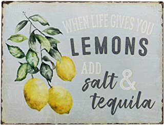 Retro Wall Sign When Life Gives You Lemons