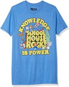 Ripple Junction Schoolhouse Rock Knowledge is Power Logo Group Adult T Shirt