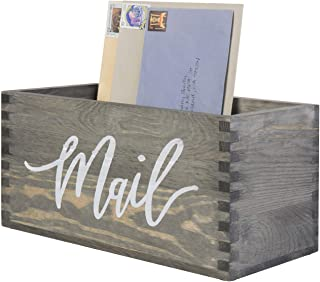 Rustic Wooden Mail Holder