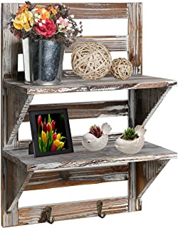 Rustic Wooden Storage Rack with Shelves