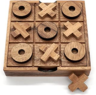 Rustic Wooden Tic Tac Toe Game