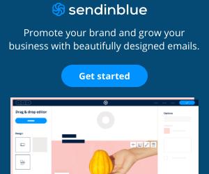 Sendinblue Email Marketing 300 x 250 px
