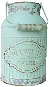 Shabby Chic Metal Jug Flower Vase