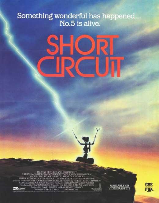 Short Circuit 1986 Movie Poster