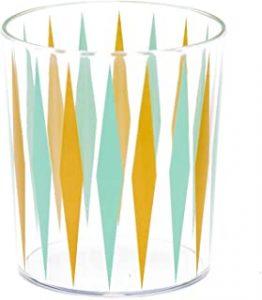 Sugar Cloth Retro Diamond Print Plastic Tumbler Glass Set