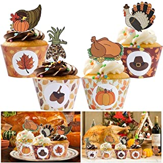 Thanksgiving Cupcake Wrapper Set