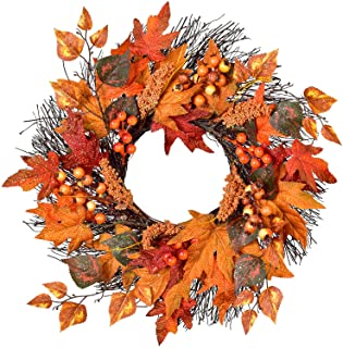 Thanksgiving Maple Leaf Wreath