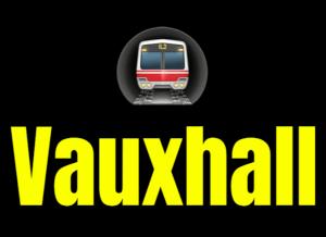 Vauxhall  London Underground Station Logo PNG