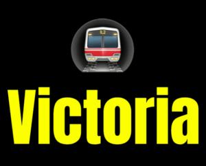 Victoria  London Underground Station Logo PNG