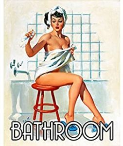 Vintage Bathroom Wall Plaque