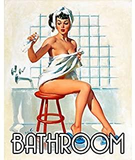 Vintage Bathroom Wall Plaque
