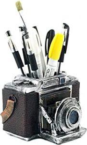 Vintage Camera Pencil Holder