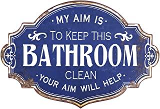 Vintage Metal Bathroom Wall Sign