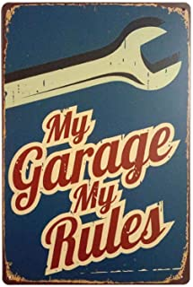 Vintage My Garage Wall Sign