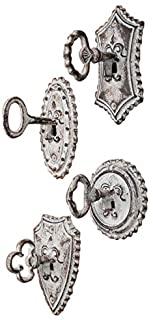 Vintage Oversized Key and Lock Hooks