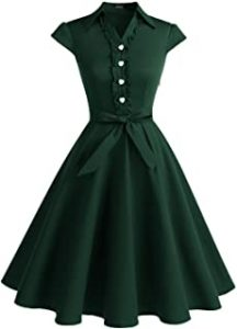 Wedtrend Womens 1950s Retro Rockabilly Dress Cap Sleeve Vintage Swing Dress