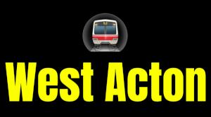 West Acton  London Underground Station Logo PNG