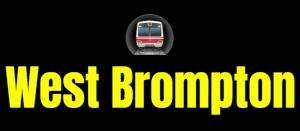 West Brompton  London Underground Station Logo PNG
