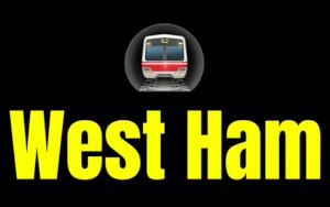 West Ham  London Underground Station Logo PNG